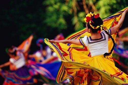FESTIVAL DANCERS, MEXICO